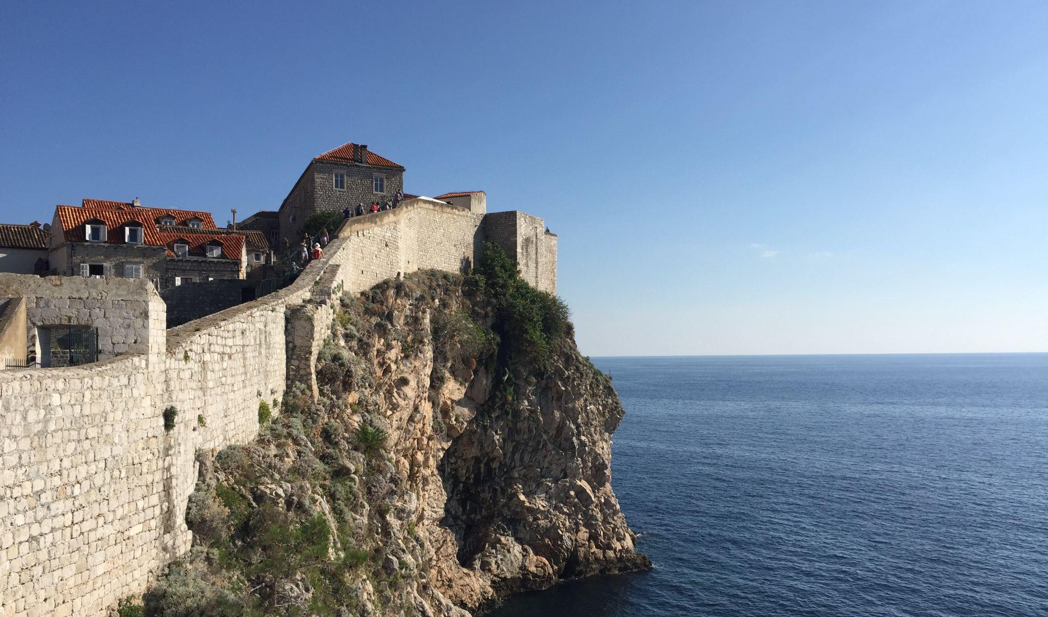 Dubrovnik Old Town Seaside Walls