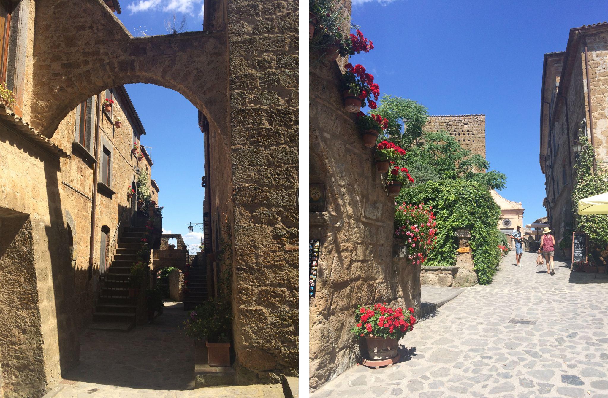 Bagnoregio streets Umbria