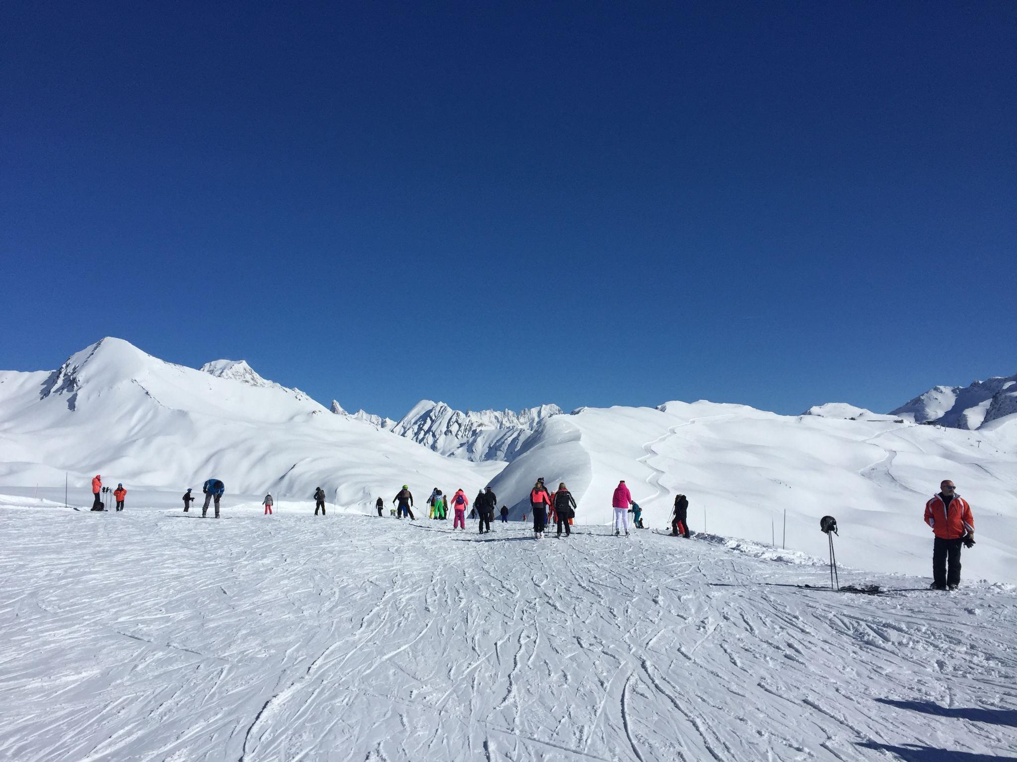 skiing La Rosière