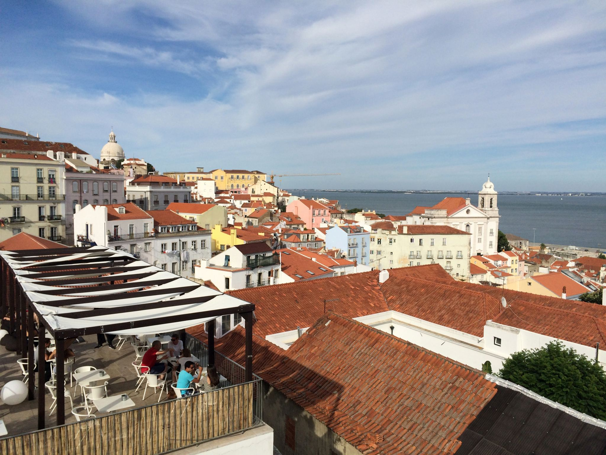 The view from Miradouro de Santa Luzia.