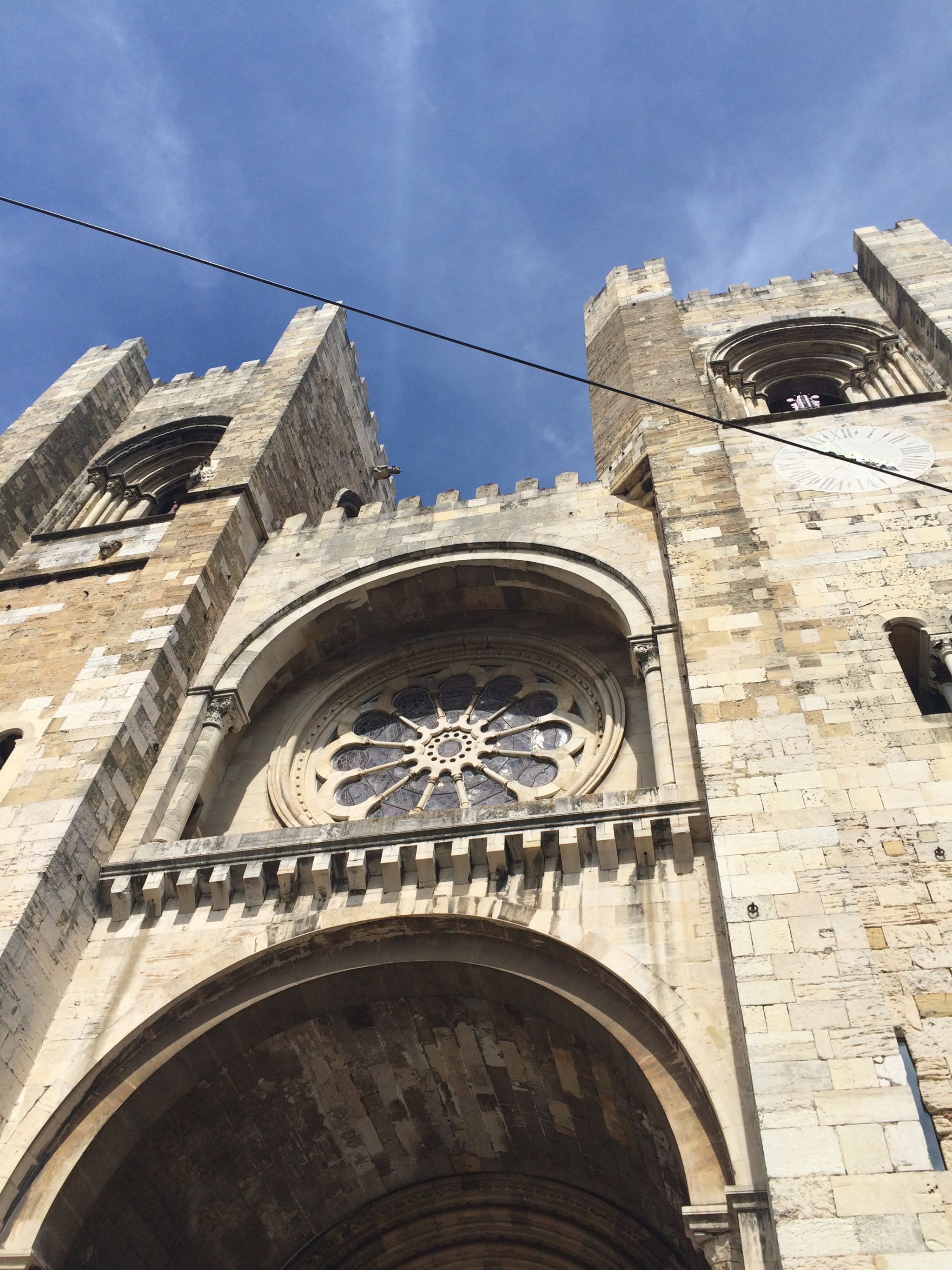 The facade of Lisbon Cathedral.