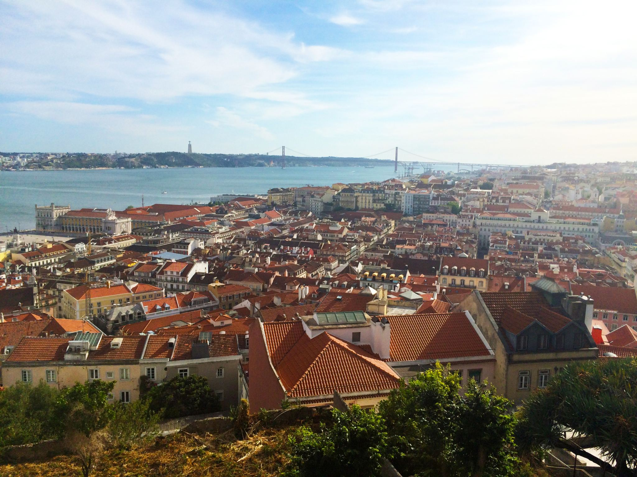 The view over Lisbon from Catelo de S. Jorge.