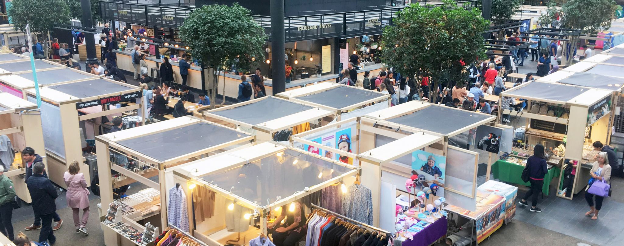 Pop up weekend markets at Spitalfields