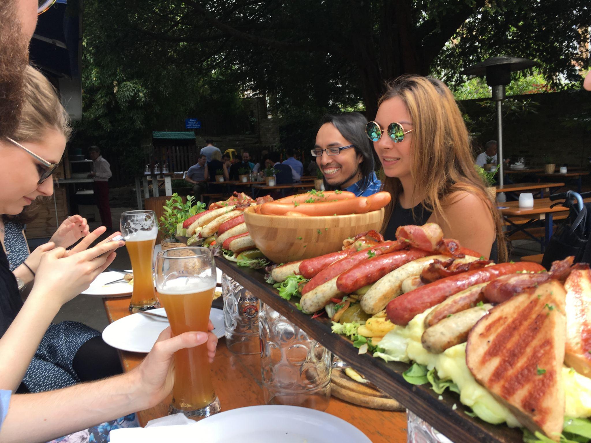 Richmond Stein's sausage platter