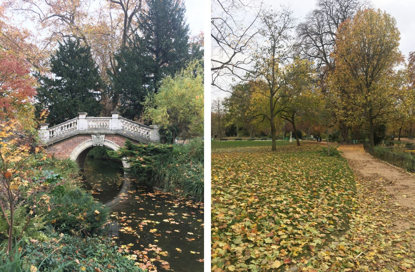Parc Monceau Paris autumn
