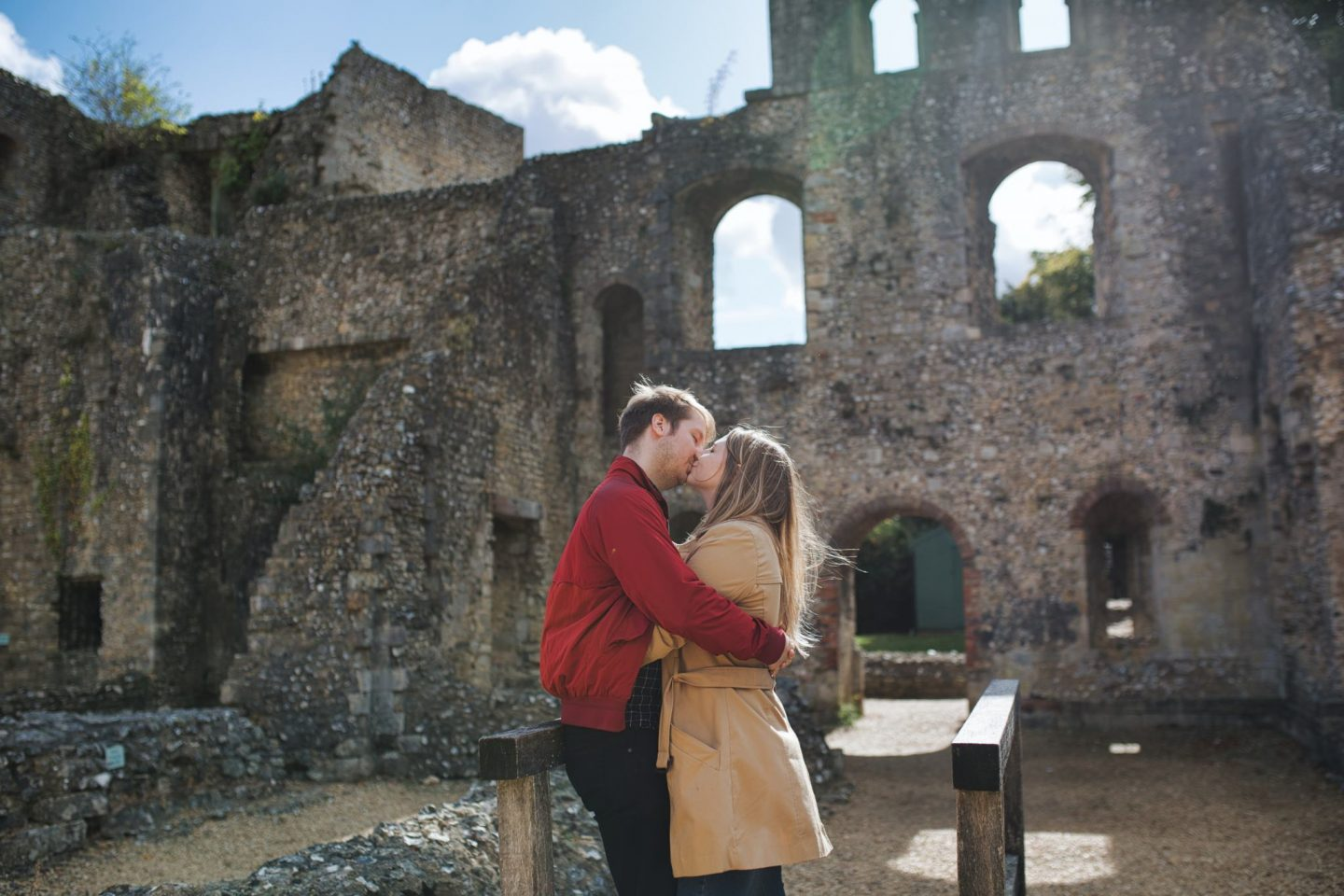 Sophie & Matt engagement shoot Harps Joseph Photography Wolvesey Castle