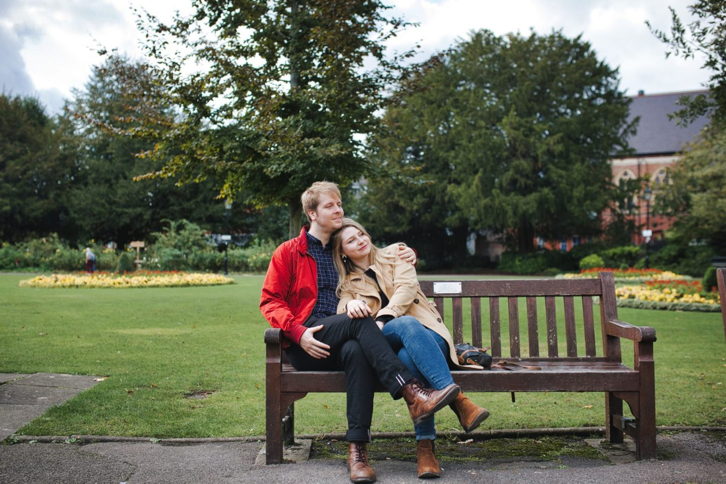 Sophie & Matt engagement shoot Harps Joseph Photography Abbey Gardens Winchester