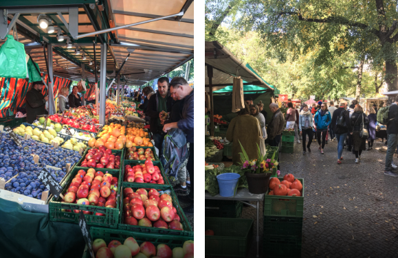 Food market Boxhagener Platz