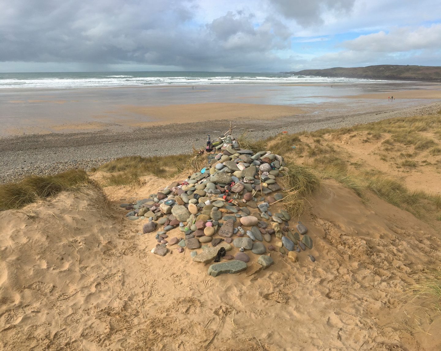 Dobby's grave at Freshwater West