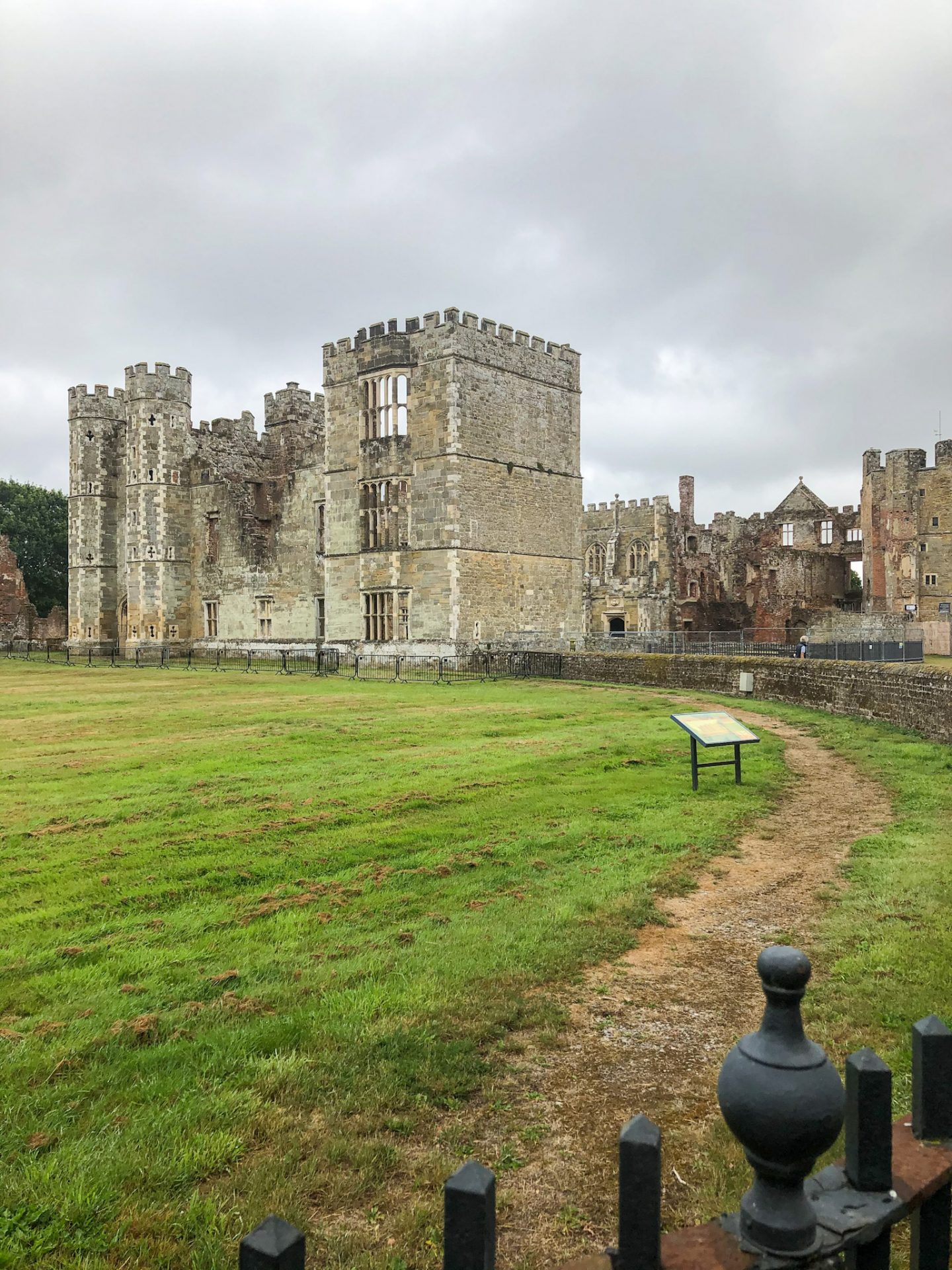 Cowdray Ruins, the South Downs
