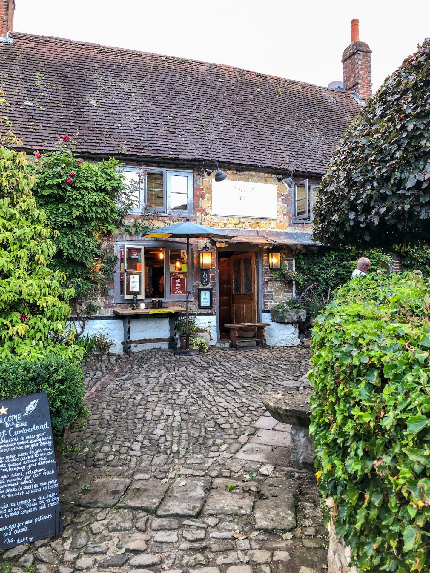 The Duke of Cumberland Pub in the South Downs