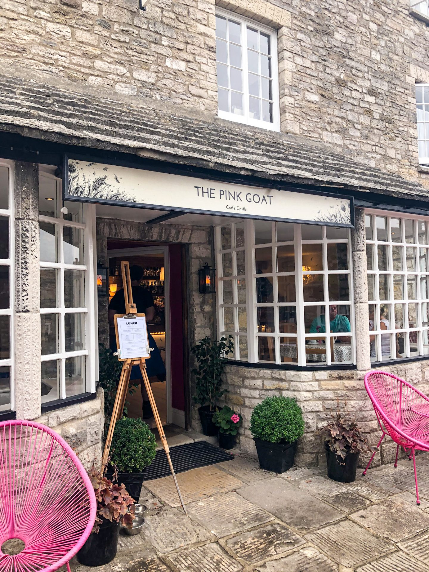 The Pink Goat Cafe Corfe Castle