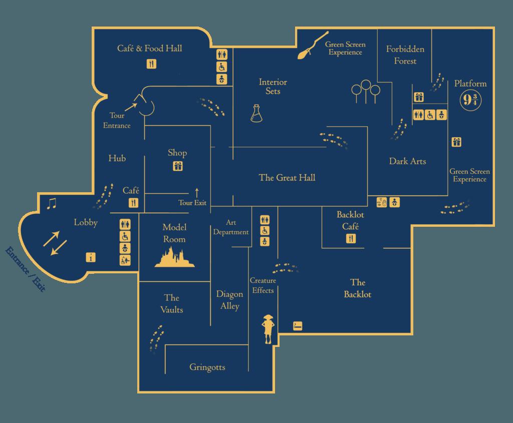 Warner Bros Studio Tour Map